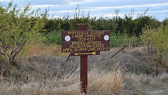 California Historical Landmarks in Yuba County, California - Image: Marysville Assembly Center marker