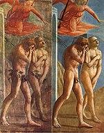 L'expulsion d'Adam et Ève du Paradis, fresque de Masaccio (1428)