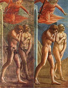 The Expulsion Of Adam and Eve from Eden, Masaccio (1426-28) Cappella Brancacci (Florentzia)