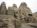Masroor rock-cut temple front.JPG