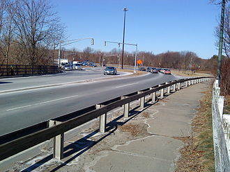 Massachusetts Route 2 - Convergence of Routes 2, 3, and 16 at Alewife.