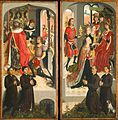 Master of the Legend of St Barbara - Doors of triptych with donors SF DT1049.jpg