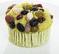 Matcha muffin with sweetened azuki beans.jpg