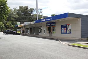 Maunu, New Zealand - The small block of shops at Tui Crescent.