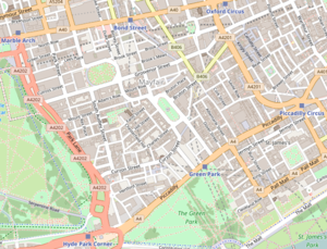 Map Of London England And Surrounding Area.Mayfair Wikipedia