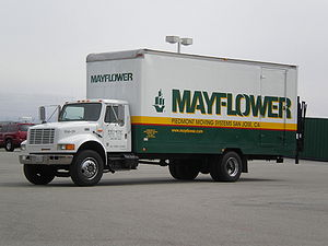 Mayflower Transit - A Mayflower moving truck operated by a local agent in San Jose, California
