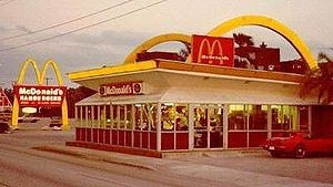 "I took this picture of a ""retro"" McD..."