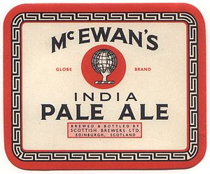 Beer in Scotland - An Edinburgh brewer's IPA label