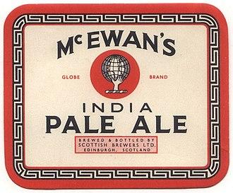 Beer in Scotland - An Edinburgh brewer's IPA label