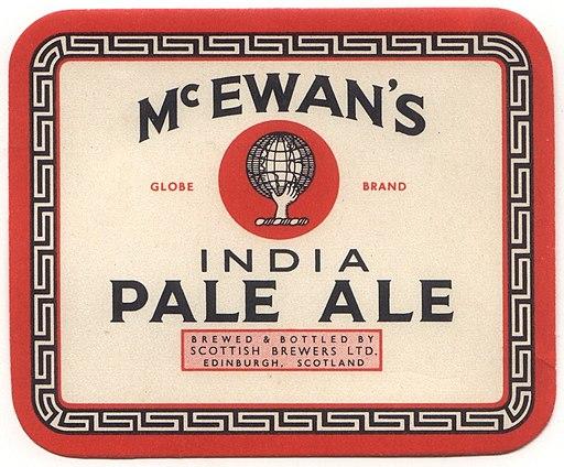McEwan's India Pale Ale label