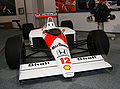McLaren MP4-4 and Honda RA168E engine Honda Collection Hall.jpg
