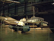 Me 262A and its Junkers Jumo 004 turbojet engine (Yellow 5)