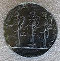 Medaglione di commodo, 188dc, verso con le tre Monete con bilance, cornucopie e pile di monete.JPG