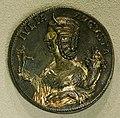 Medaglione romano argenteo con iulia domna col palladio, roma 193-211.jpg