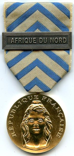 Medal of the Nation's Gratitude - Image: Medaille de la Reconnaissance de la Nation France AVERS
