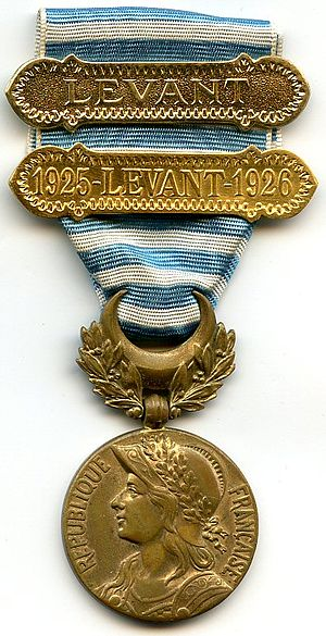 Syria-Cilicia commemorative medal - Image: Medaille du levant France