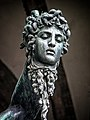 Medusa's head from Perseus and Medusa by Benvenuto Cellini, 1545, at the Loggia dei Lanzi in Florence Italy MH.jpg