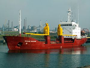 Mekhanik Makarin, leaving Port of Amsterdam 10-Sep-2005.jpg