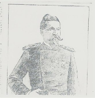 Battle of Sugar Point - Portrait of Melville Wilkinson as it appeared in The St Paul Globe October 7, 1898