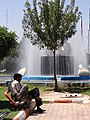 Men with Fountain - Jolfa - Iranian Azerbaijan - Iran (7421478626).jpg