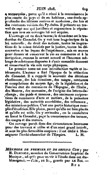 File:Methode de premiere et de second cor - par H. Domnich (Mercure de France 11 juin 1808).djvu