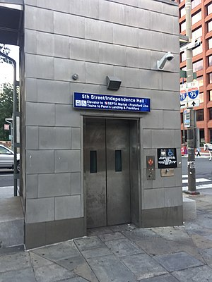 5th Street station (SEPTA) - Image: Mfl 5thst elevator