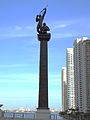 Miami River Brickell Avenue Bridge statue.jpg