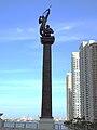 Miami River Brickell Avenue Bridge statue.jpg