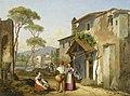 Michael Neher - Italienische Straßenansicht mit Fischern (1830).jpg