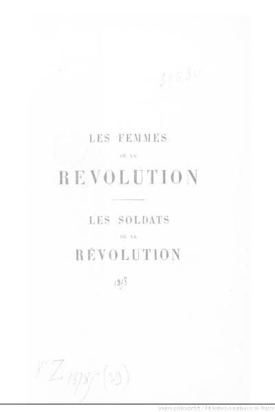 File:Michelet - OC, Les Femmes de la Révolution, Les Soldats de la Révolution.djvu