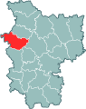 Miensk province, Vałožyn district.svg