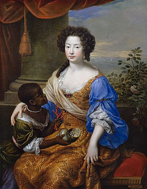 Louise de Kérouaille, Duchess of Portsmouth - Portrait of Louise de Kérouaille by Pierre Mignard