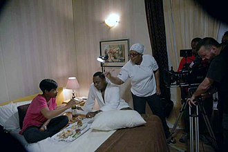Mildred Okwo - Mildred Okwo on set of The Meeting in 2011