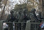 Military Parade Belgrade 2014 - Serbian Soldiers with Russian Knights - The Swifts (16026322153).jpg