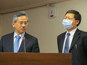 Chiu Wen-ta - Chiu during the 2013 H7N9 flu virus outbreak.