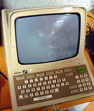 Videotex - Minitel was perhaps the most successful videotex service worldwide. This Minitel 1 terminal was an early device used for connecting to Minitel.