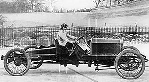 Land speed record - Dorothy Levitt, in a 26hp Napier, at Brooklands, England, in 1908