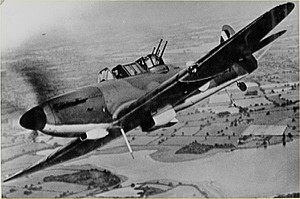 "727 Naval Air Squadron - Bolton Paul Defiant ""turret fighter"" aircraft"