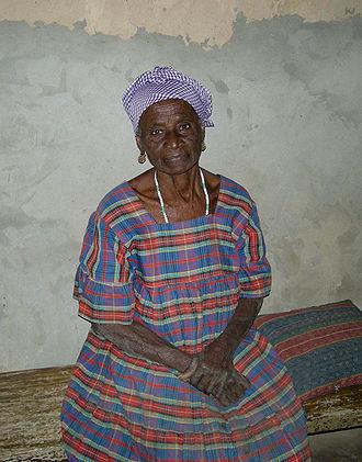 Mlomp - An elderly Mlomp woman