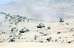 Modified M551s maneuvering during National Training Center exercise 1988 DA-ST-88-04775.jpg