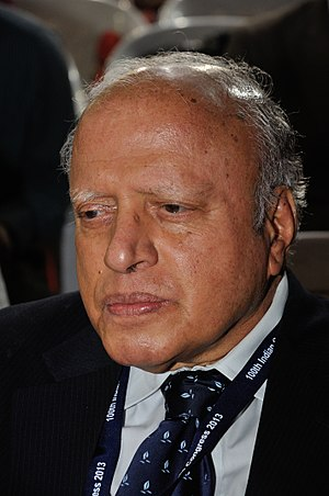 M. S. Swaminathan - Swaminathan at the 100th Indian Science Congress