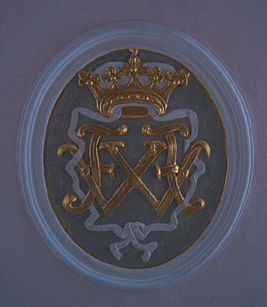 Frederick William, Prince of Solms-Braunfels - Monogram of Frederick William in the Evengelical Reformed Church in Wölfersheim