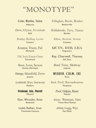 Monotype Imaging - A sample of various Monotype designs in digital format.