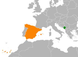 Montenegro–Spain relations