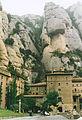 Montserrat - monastery and cliffs above.jpg