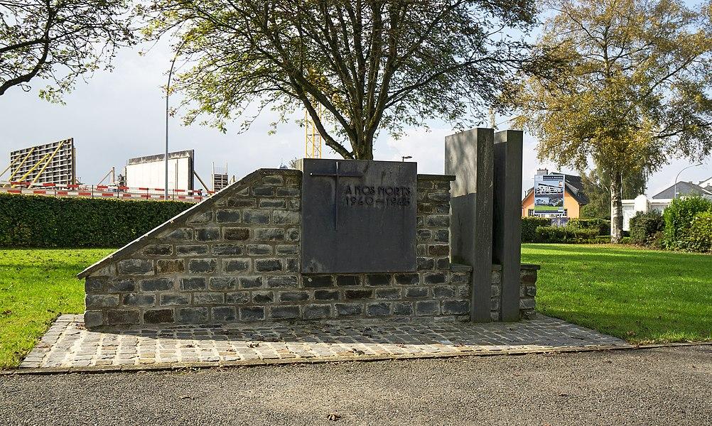 World war II memorial near the town hall of Weiswampach