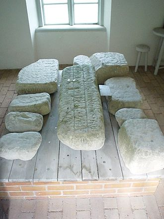 Stones of Mora - Fragments of commemorative stones from the monument