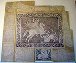 Mosaico con bellerofonte e la chimera, da rodi sud, 300-270 ac. ca. 01.JPG