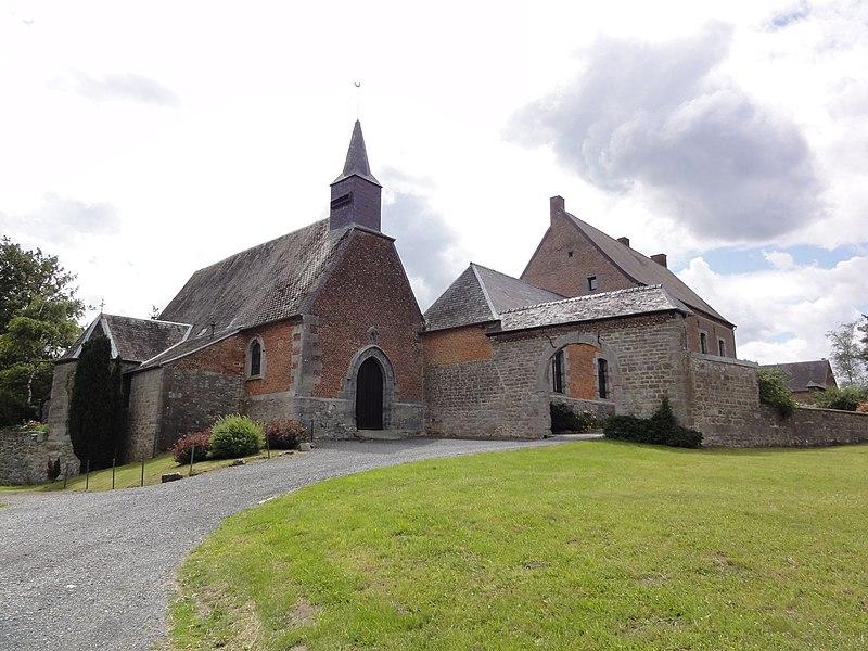 Moustier-en-Fagne (Nord, Fr) église et monastère