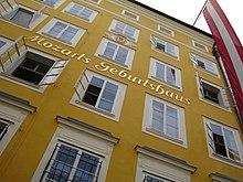 Mozart's birthplace at Getreidegasse 9, Salzburg